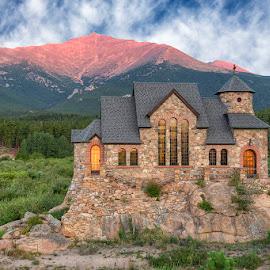 Chapel on a Rock by Ken Smith - Buildings & Architecture Places of Worship ( longs peak, saint malo, chapel, landscape )