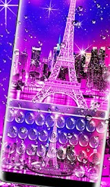 Water Drops Eiffel Tower Keyboard Theme Apk Download Free for PC, smart TV