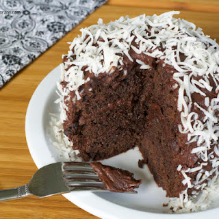 Double Chocolate Cake with Supreme Chocolate Frosting.