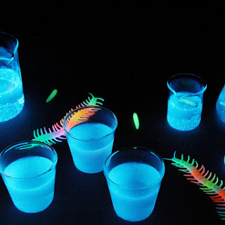 Glow-in-the-Dark Jello Shots.