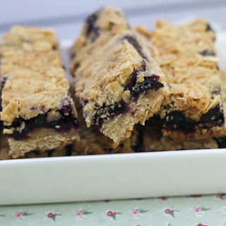 Blueberry And Oat Bars.