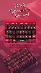 Pink typewriter keyboard - náhled