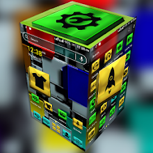 Colorful Metal Cube Launcher Theme Download on Windows