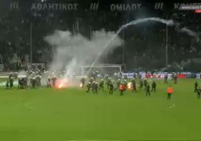 Match définitivement arrêté ! L'Olympiakos et le PAOK, c'est autre chose qu'en Belgique