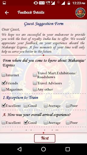 IRCTC Maharajas screenshot 7