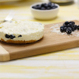 Blueberry Coconut Cheesecake