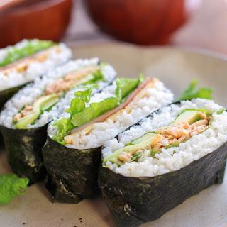 BLT Rice Sandwich (Onigirazu)