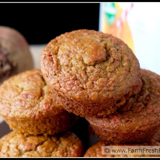 Oatmeal Orange Beet Blender Muffins