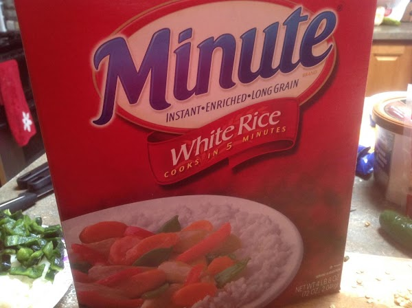 In the meantime Cook rice according to package directions, and set aside till needed...