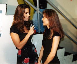 Photo: Backstage of the Bayfront Park at Bayside-Miami - being interviewed by a TV Station Miami - 1995