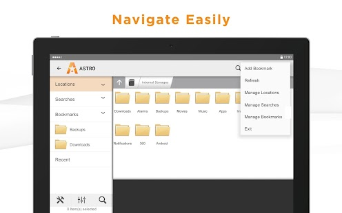 ASTRO File Manager Screenshot