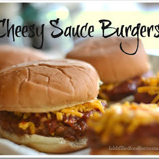 Cheesy Sauce Burgers in the Oven!.