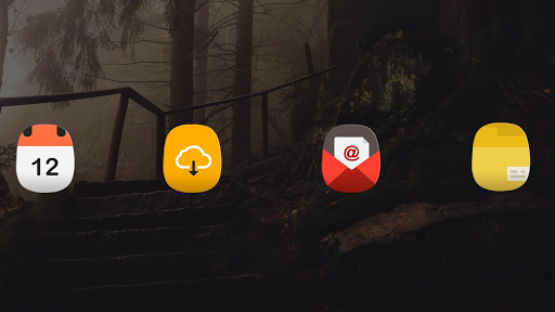 Oval - Icon Pack Apps voor Android screenshot