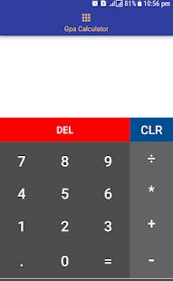 CGPA Grade Calculator - náhled