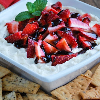 Strawberry Balsamic Mascarpone Dip
