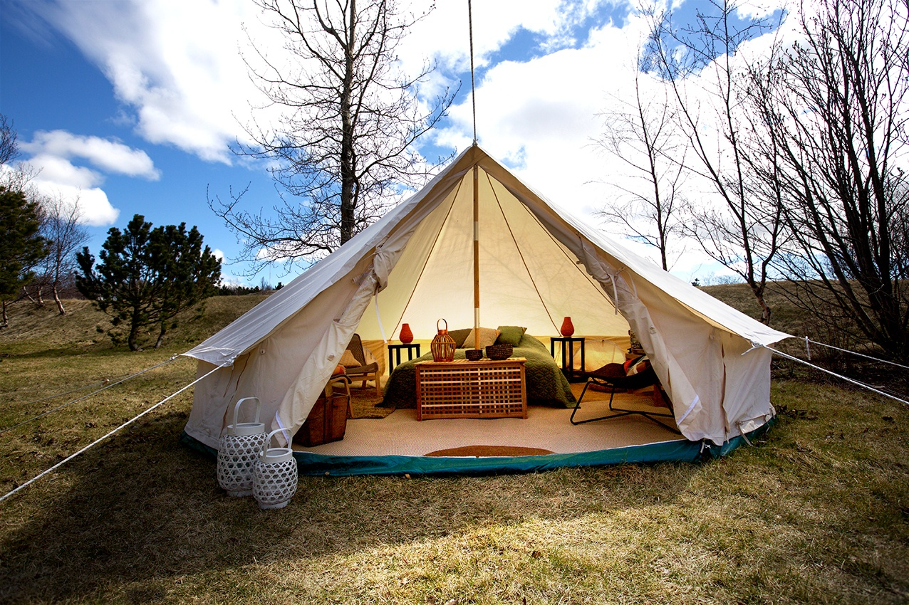 Volcano Trail Glamping tent, fully furnished.