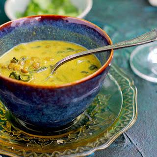 Coconut Basil French Green Lentil Soup