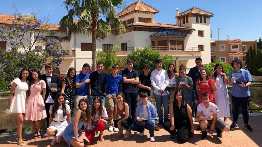 Fotografía de grupo del alumnado participante en el Festival de Cortometrajes de la Salle Chocillas.