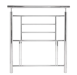 Modern Metal Floor Standing Headboard in Nickel Finish