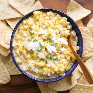 Elote {Hot Mexican Corn Dip} Recipe