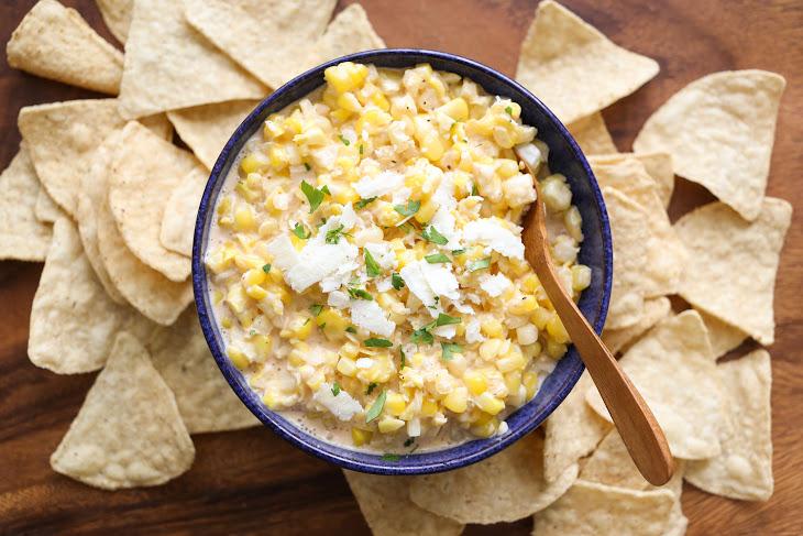 Elote {Hot Mexican Corn Dip} Recipe