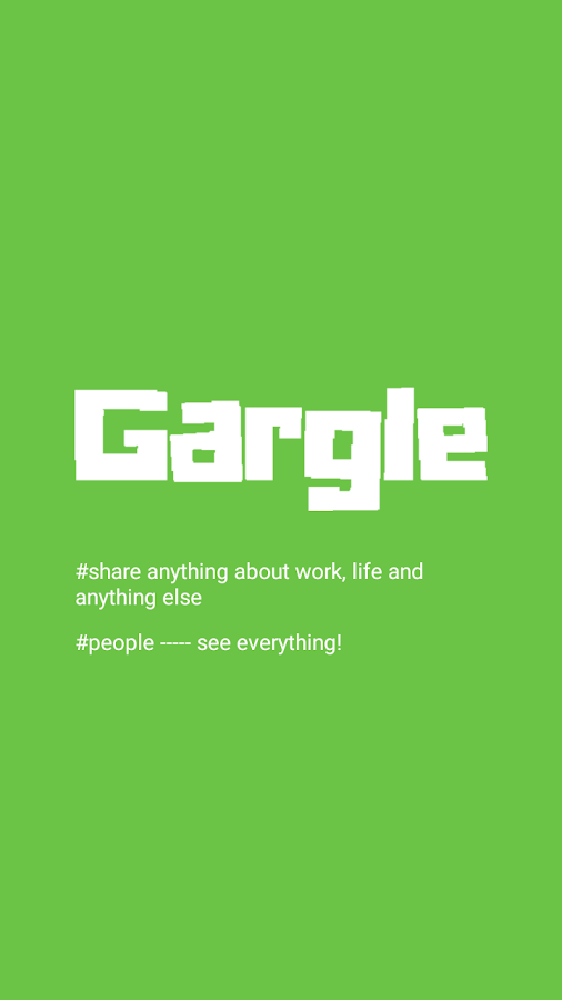 Gargle app- secretly share stressful work moments- screenshot