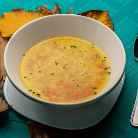 Soup by Ewald Gruescu - Food & Drink Plated Food ( gruescu, sigma, nikon, ewald, foodporn, restaurant, timisoara, photographer, plate, romania, food )