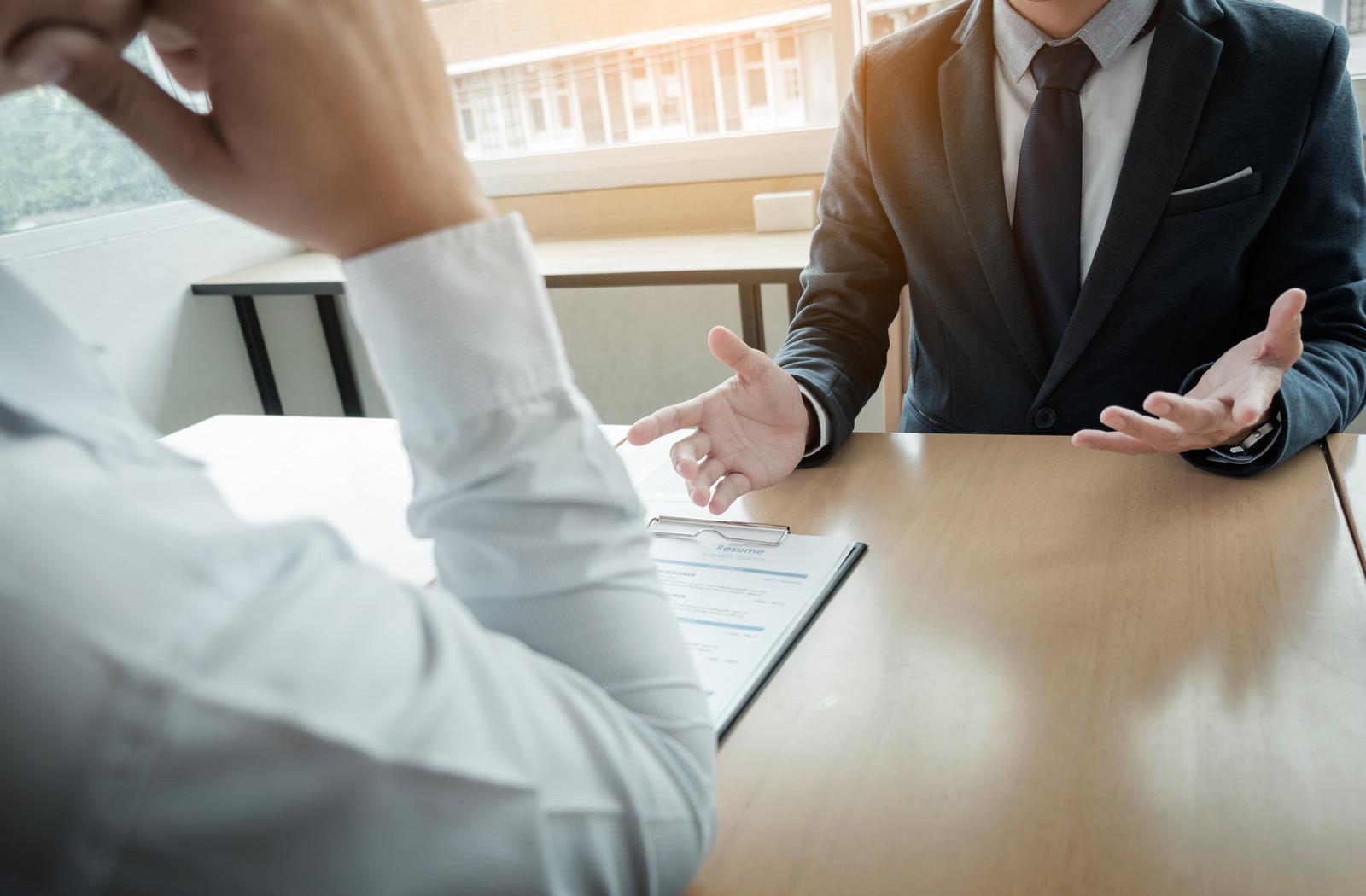 an employer interviewing a prospective employee