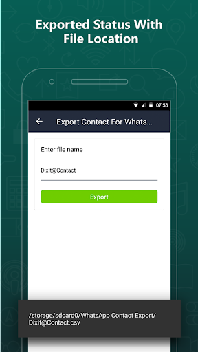 Export Contacts For WhatsApp 2.9 screenshots 6