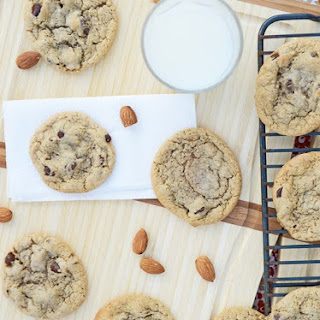 Almond Butter Banana Chocolate Chip Cookies