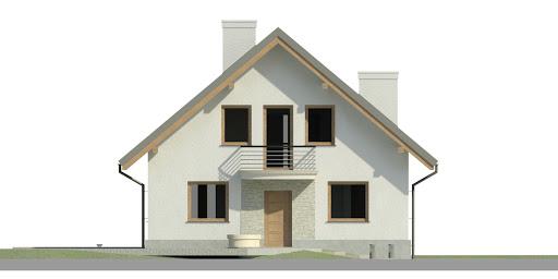 Dom przy Cyprysowej 44 - Elewacja przednia