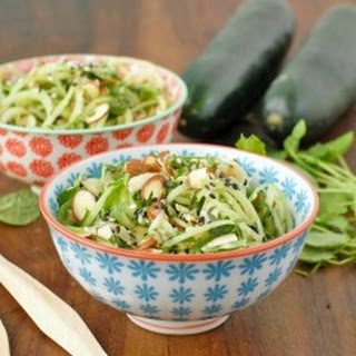 Cold Cucumber Noodle Salad with Watercress, Mint and Toasted Sesame-Ginger Dressing