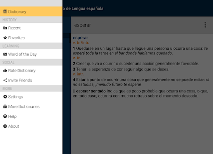 Vox Spanish Advanced Dict- screenshot thumbnail