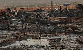 Desolador: Así ha quedado el poblado de Nijar tras el fuego