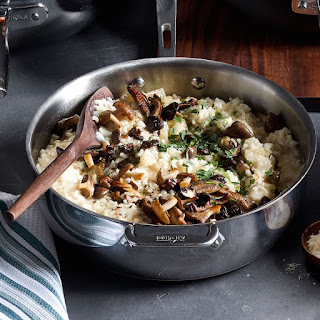 Mushroom and Fennel Risotto with Parmesan.