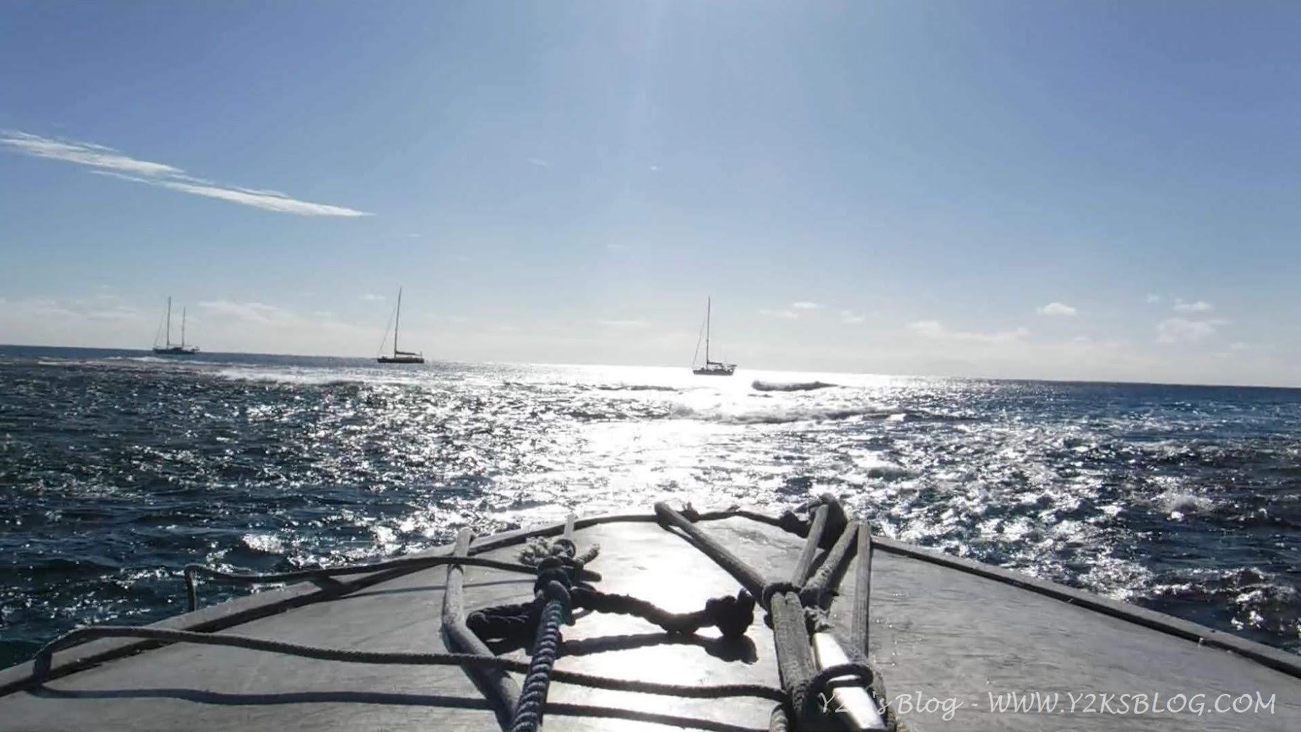 L'ultimo passaggio verso le nostre barche. Da SX: Little Fish, Cinnabar, Y2K