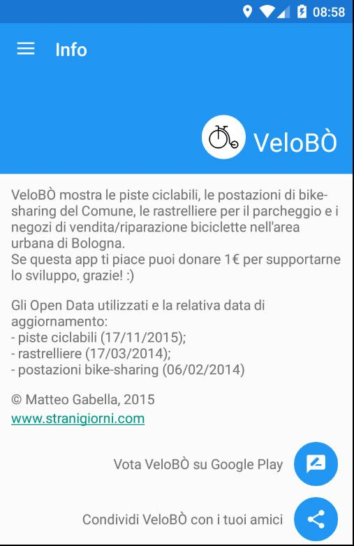 VeloBÒ- screenshot