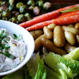 Charred Triple-Onion Dip with Crudités