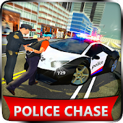US Police Car Chase Cop Robot Transform Simulator
