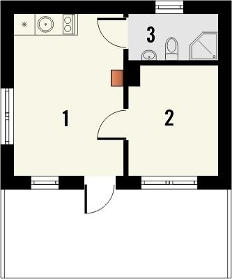 Domek 1 - Rzut parteru