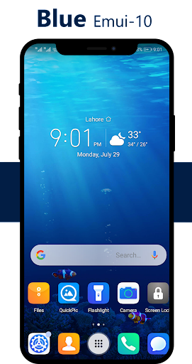 Blue Emui-10 Theme For Huawei/Honor/Emui App Report on Mobile Action