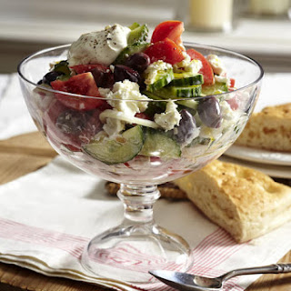 Greek Salad with Creamy Yogurt Dressing