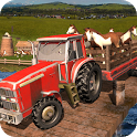 Farming Tractor Animal Cargo Transport icon