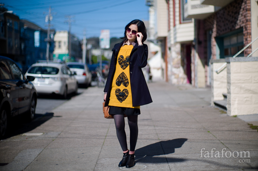Result: I Heart Lace Dress - DIY Fashion Garments - fafafoom.com