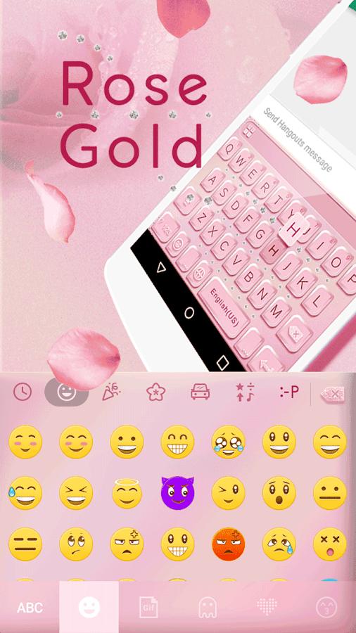 Rose-Gold-Emoji-Kika-Keyboard 7