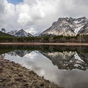 Wedge Pond by Glenn Angel - Landscapes Mountains & Hills ( mountains, reflection, alberta, kananaskis, banff )