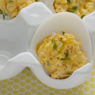 Devilled Eggs with Truffle Oil and Smoked Salt Recipe