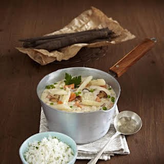 Chicken and Salsify Stew with Rice.