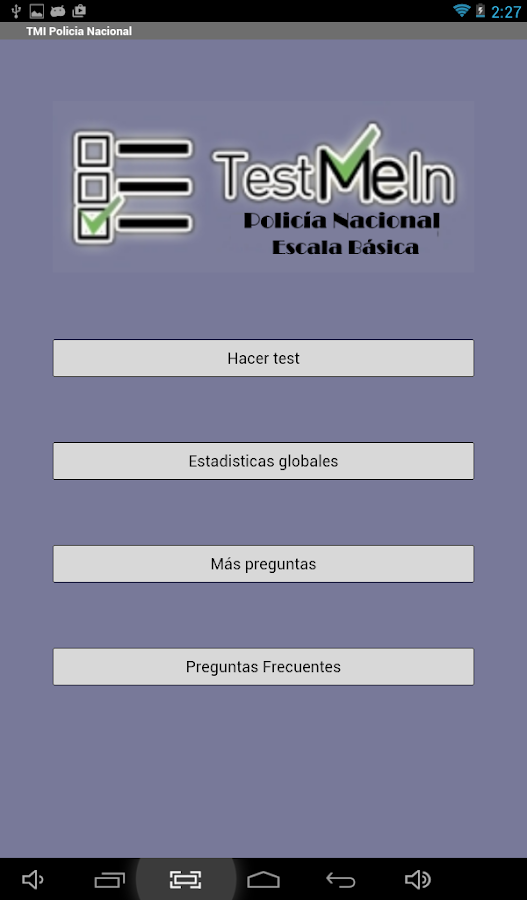 Policia Nacional Test me in...- screenshot