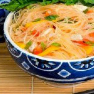 Asian Mango Chicken and Noodles